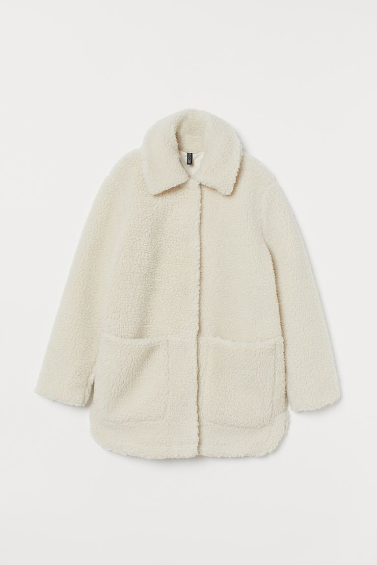 Faux Shearling Jacket - White - Ladies | H&M US