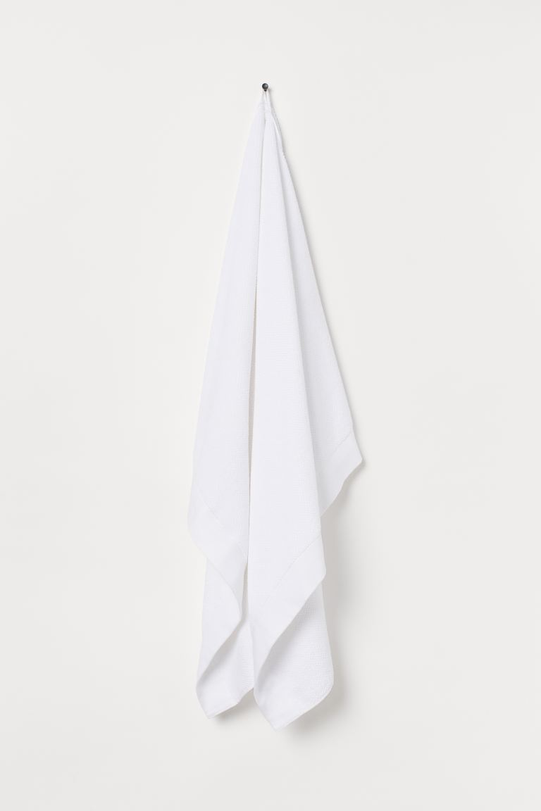 Cotton terry bath sheet - White - Home All | H&M GB