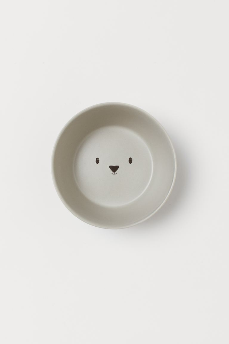 Bol en porcelaine - Gris clair/ours - Home All | H&M CA