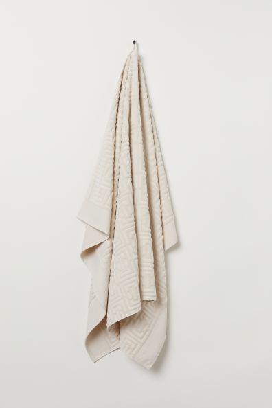 Drap de bain jacquard - Beige clair - Home All | H&M FR 1