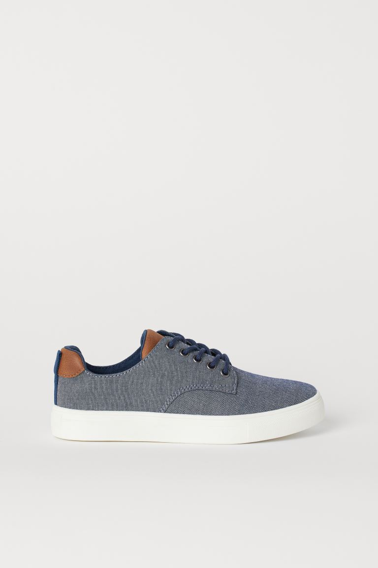 Chambray trainers - Dark blue - Kids | H&M