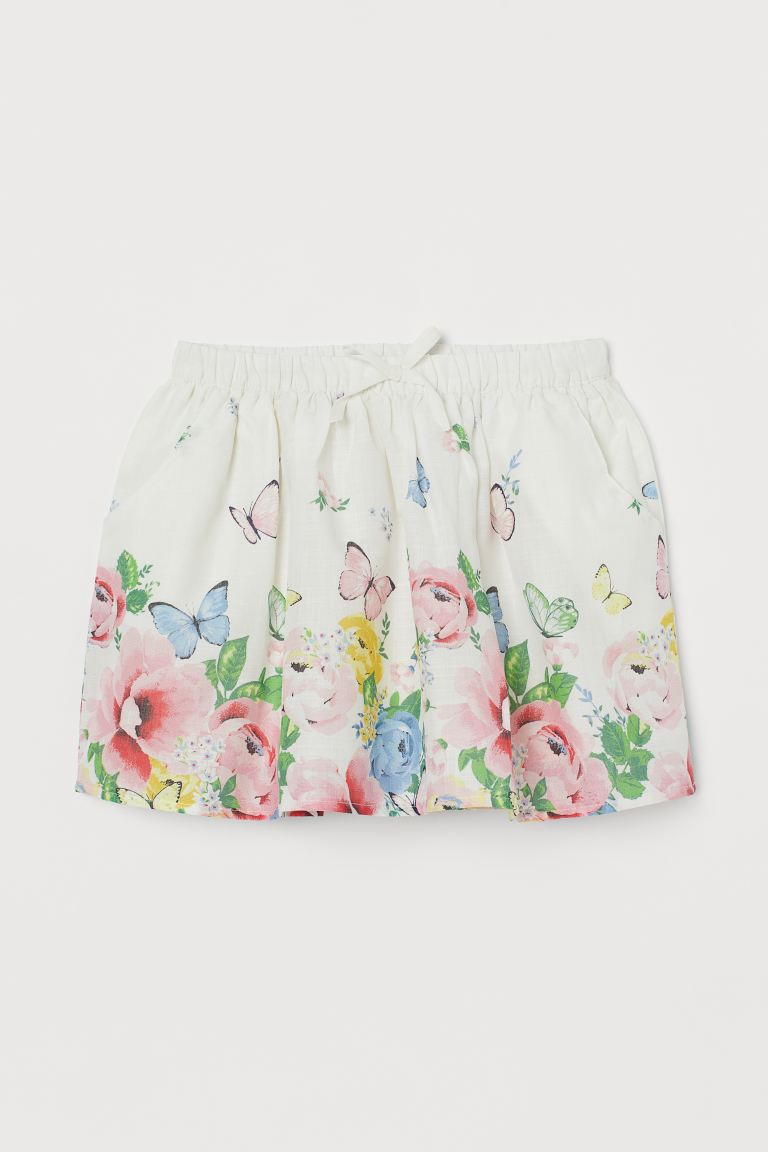 Patterned cotton skirt