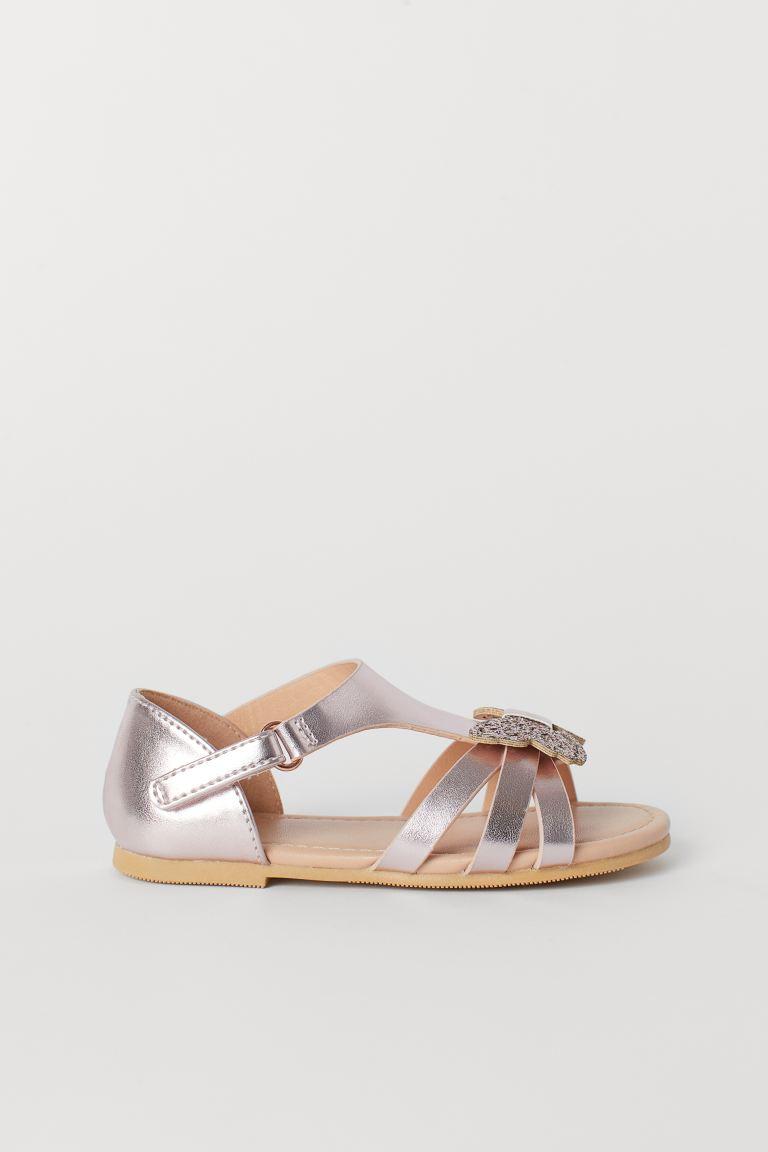 Sandals with butterflies - Metallic pink - Kids | H&M GB