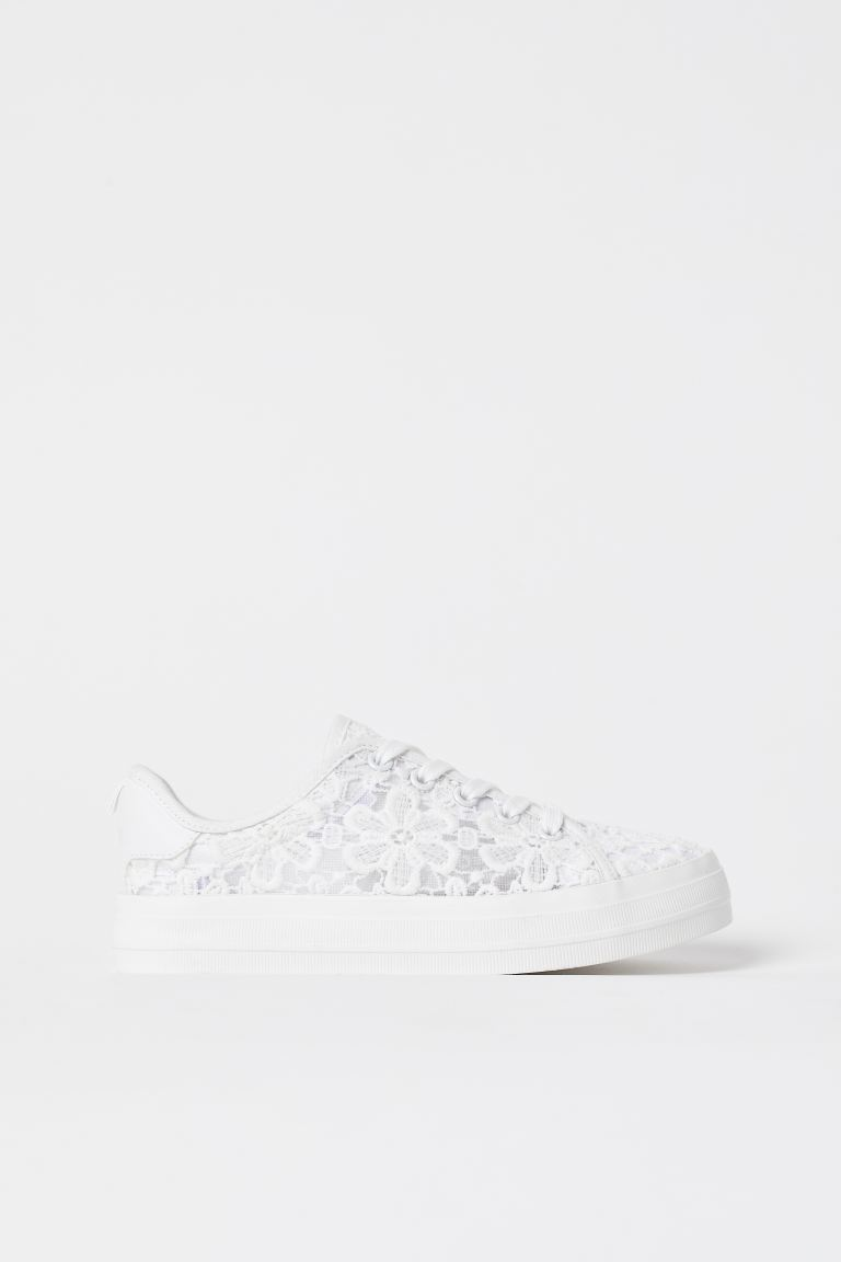 Sneakers - White/lace - Kids | H&M US