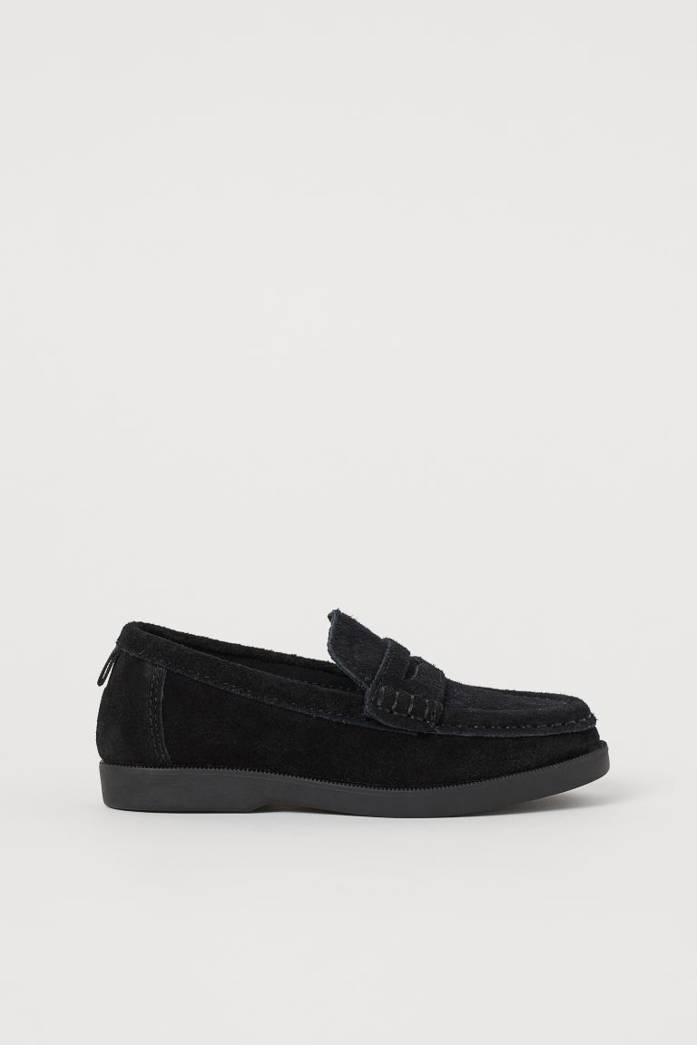Suede loafers - Black -    H&M GB