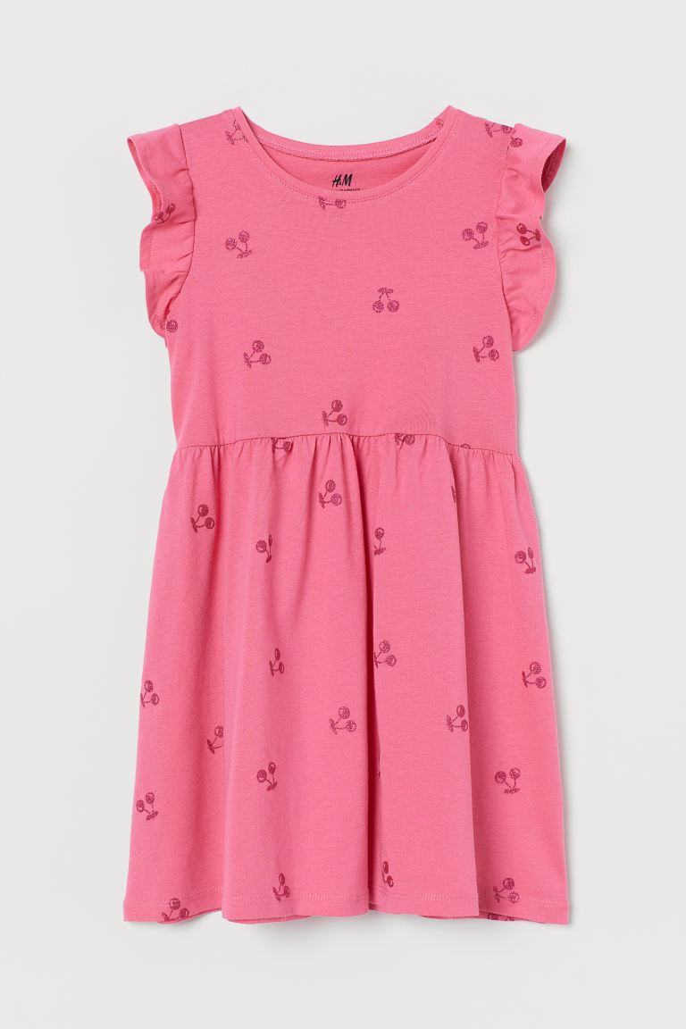Jersey dress - Cerise/Cherries - Kids | H&M GB