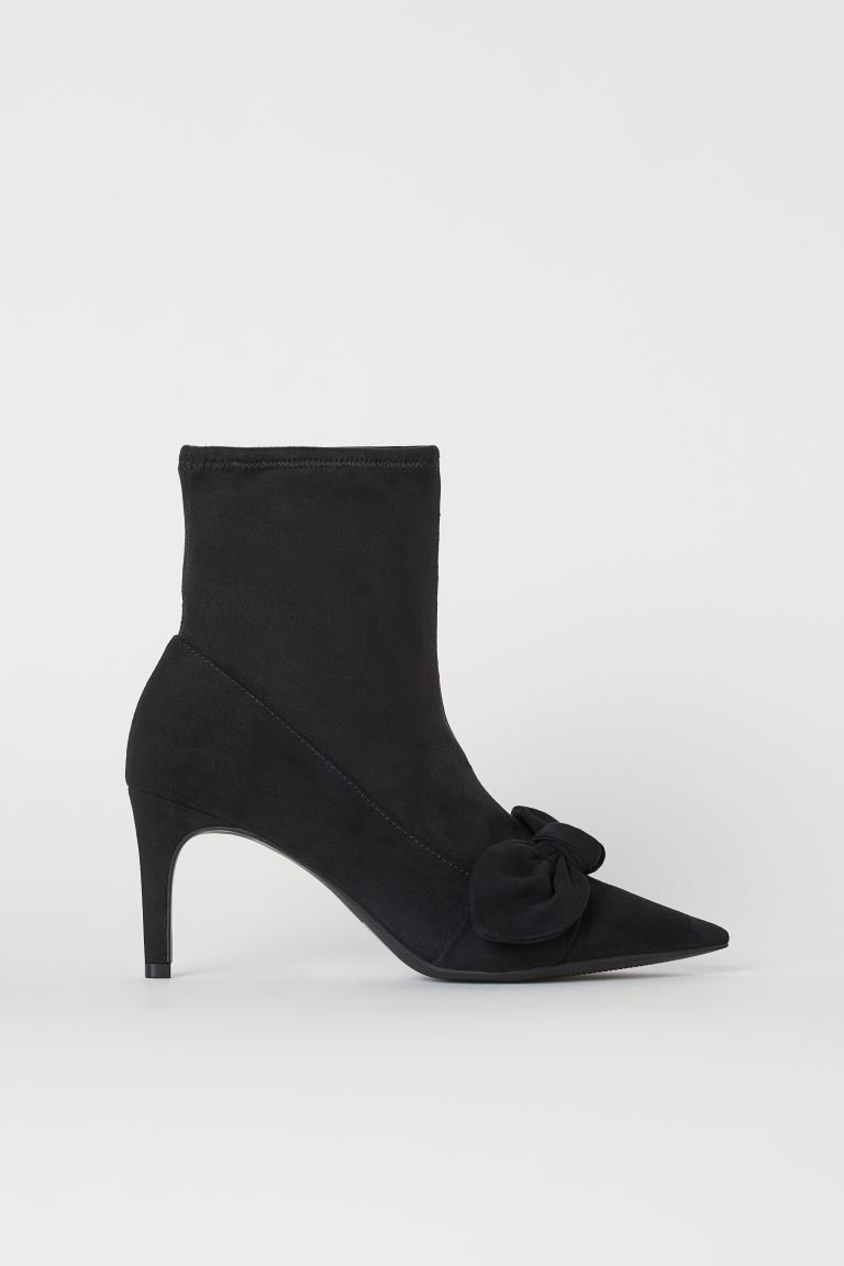 Ankle boots with a bows - Black - Ladies | H&M IE