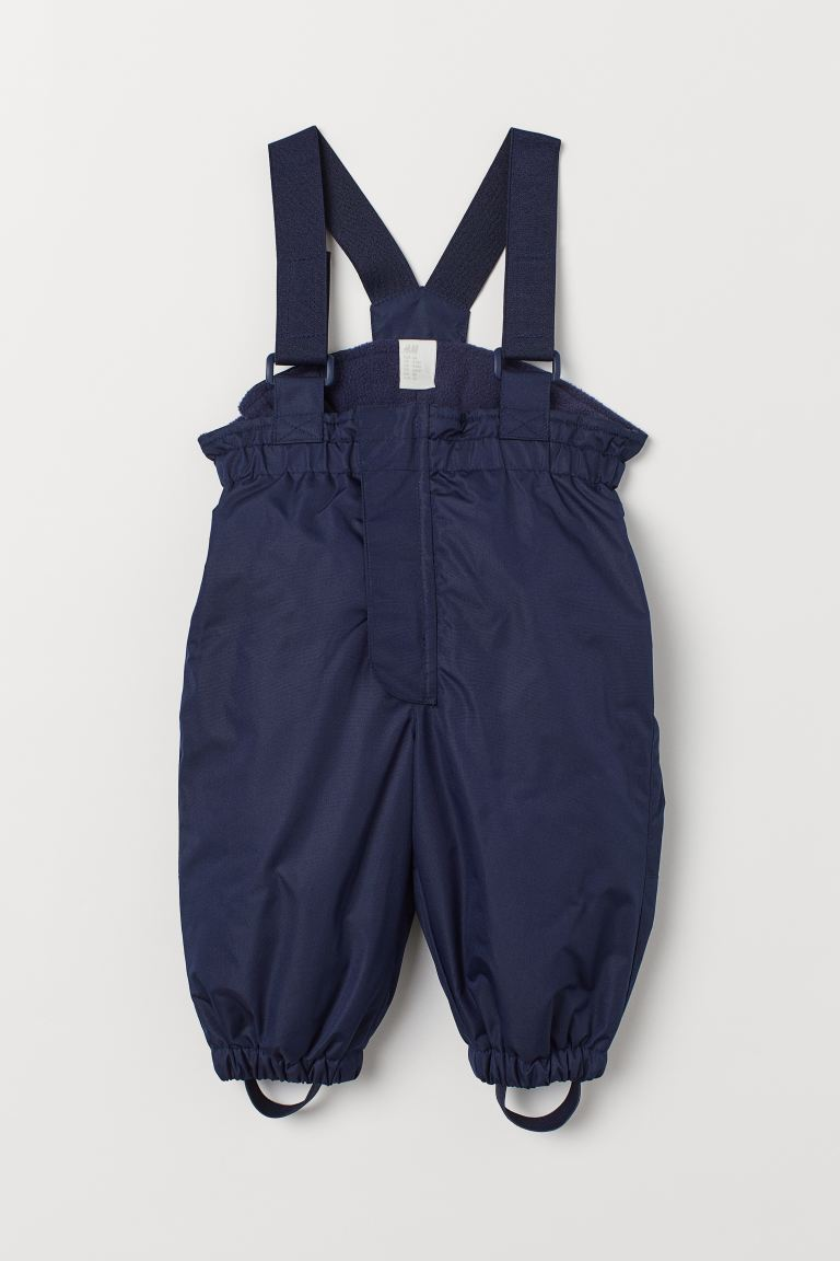 Outdoor trousers with braces - Dark blue - Kids | H&M