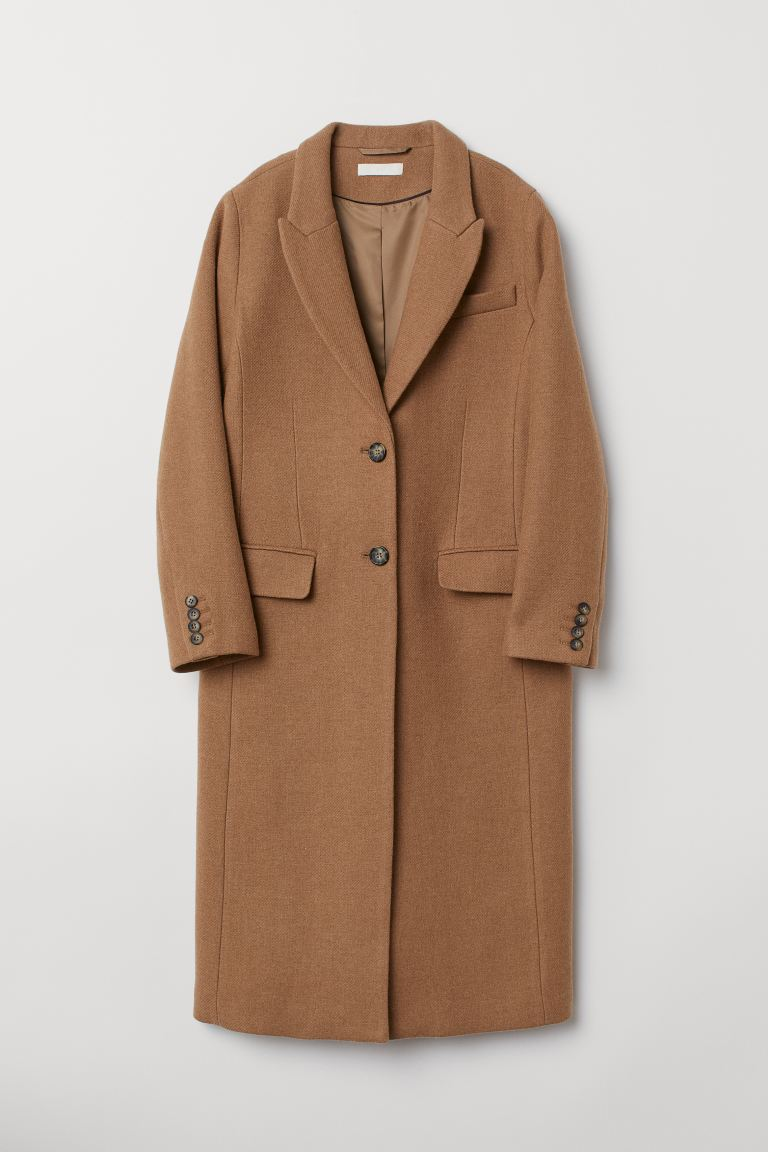 Abrigo en mezcla de lana - Camel - MUJER   H&M ES