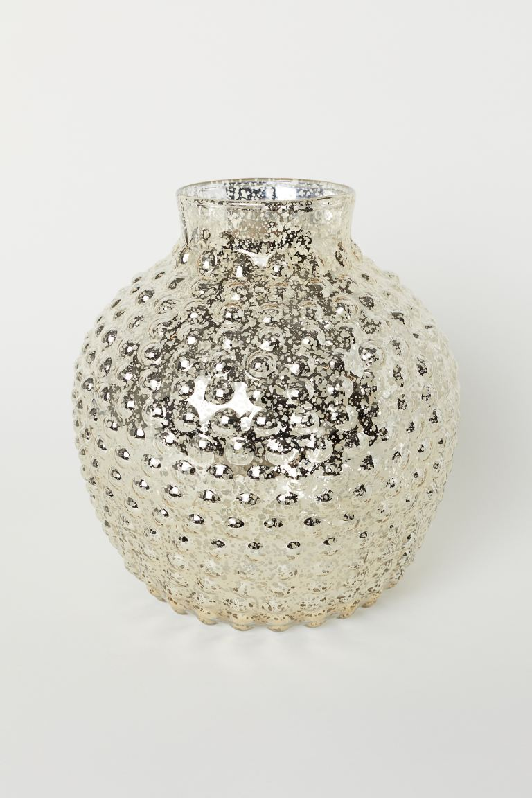 Large Glass Vase - Transparent/speckled - Home All | H&M CA