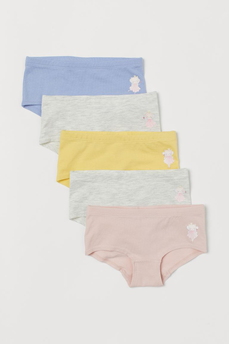 5-pack hipster briefs - Powder pink/Cat fairy - Kids | H&M