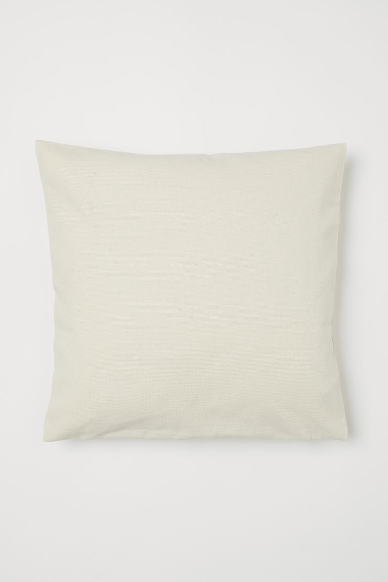Cotton Canvas Cushion Cover - Light beige - Home All | H&M US