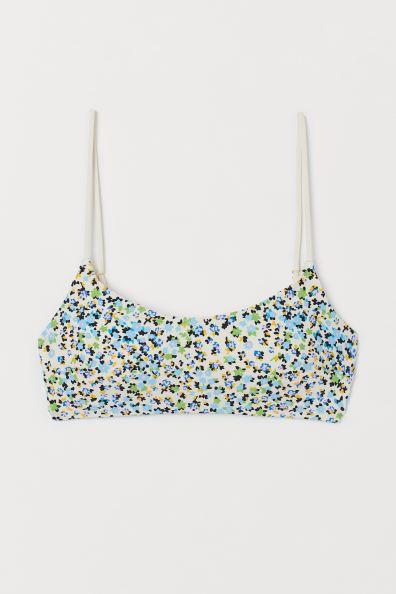 Bikini Top - Cream/floral - Ladies | H&M US 3