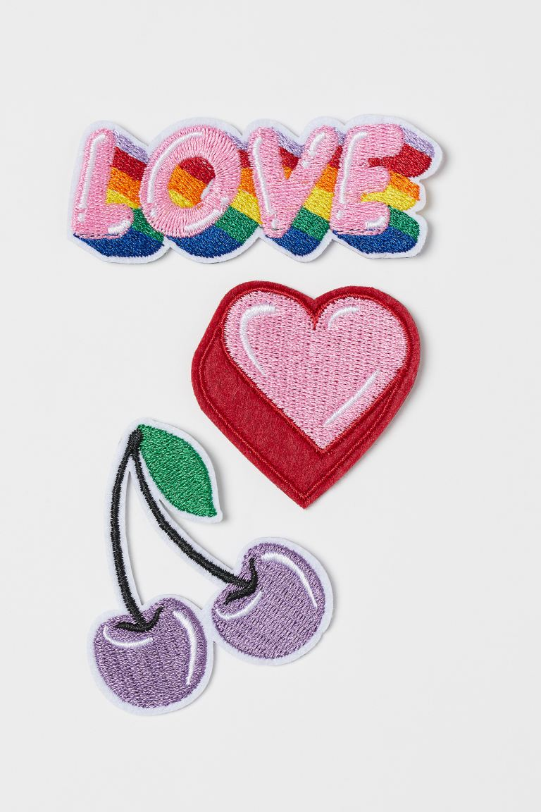 3-pack patches - Pink/Love - Men | H&M GB