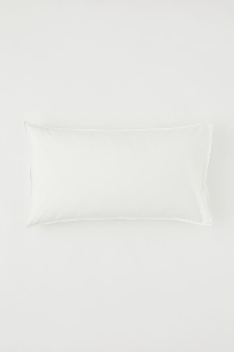 Washed cotton pillowcase - Natural white - Home All | H&M IE