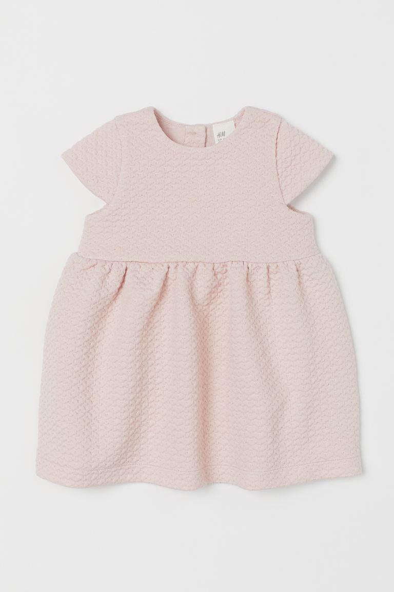 Glittery jersey dress - Light pink -    H&M GB