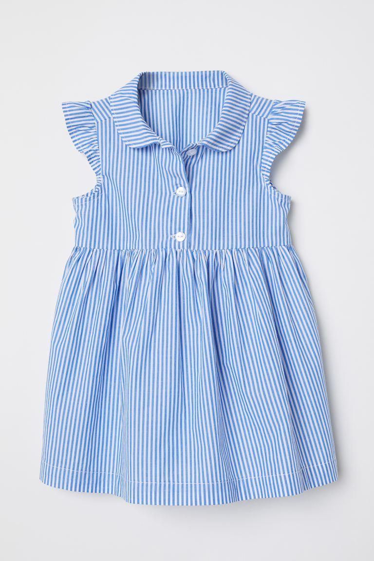 Robe à Manches Papillon - Bleu/blanc Rayé - ENFANT