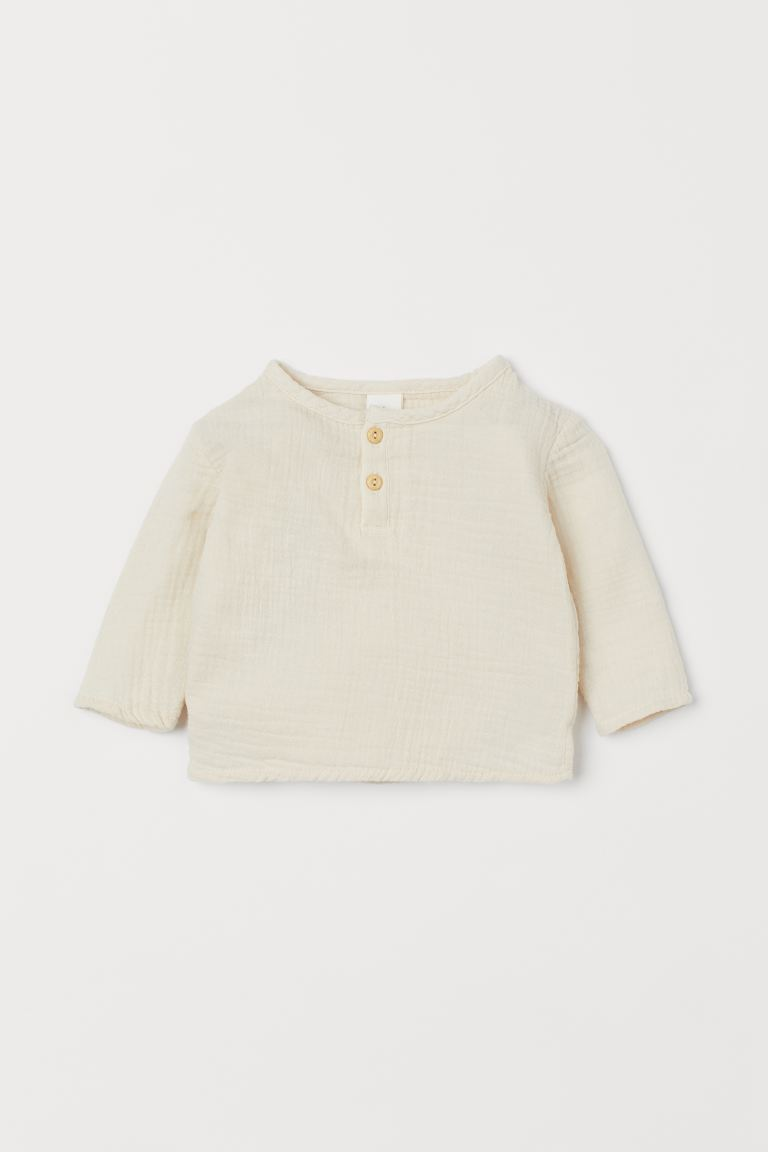 Cotton Top - Natural white - Kids | H&M CA