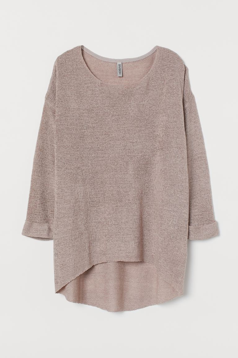 Loose-knit Sweater - Dusky pink - Ladies | H&M CA