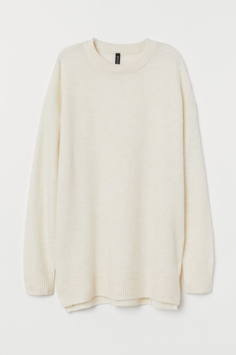 Feinstrickpullover - Hellbeige - Ladies | H&M AT