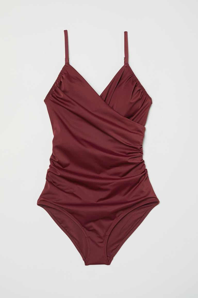 Shape-Badeanzug - Weinrot - Ladies | H&M AT