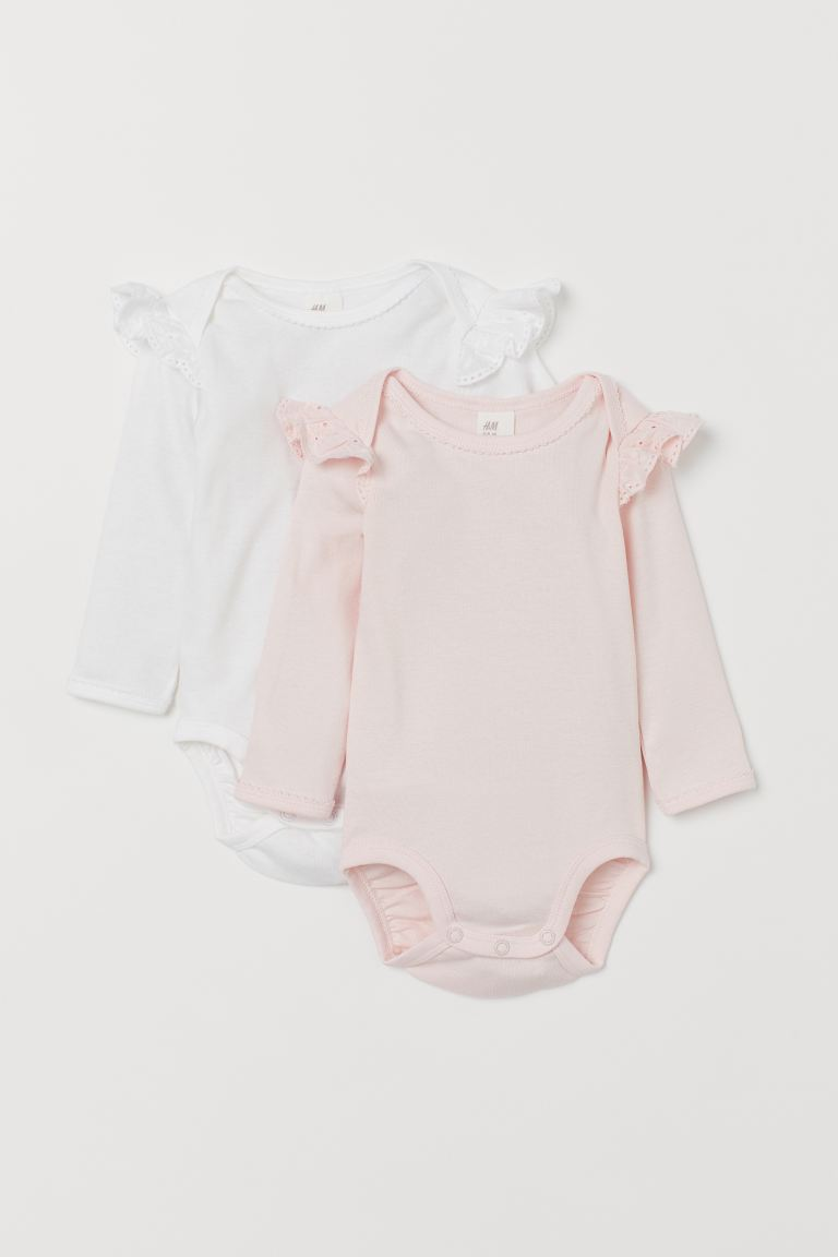 2er-Pack Bodys mit Volants - Hellrosa - Kids | H&M AT