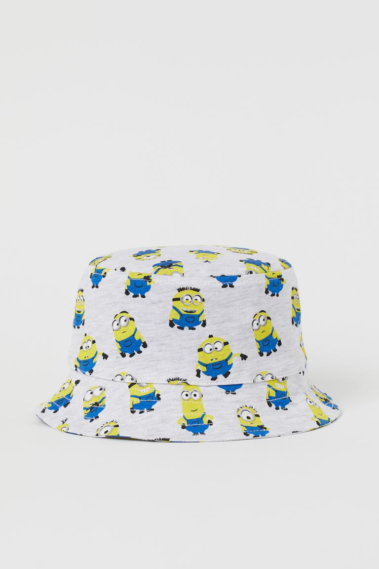 Printed sun hat - Light grey marl/Despicable Me -    H&M GB