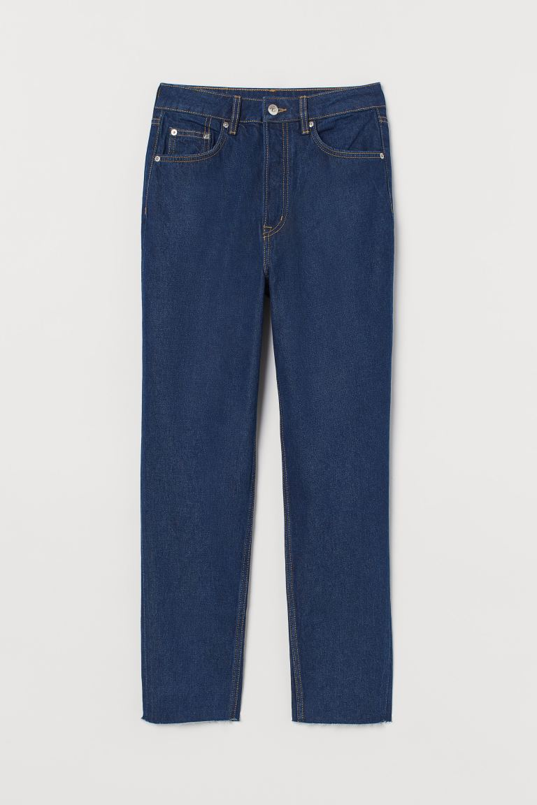 Slim Mom High Ankle Jeans - Denim azul oscuro - MUJER | H&M ES