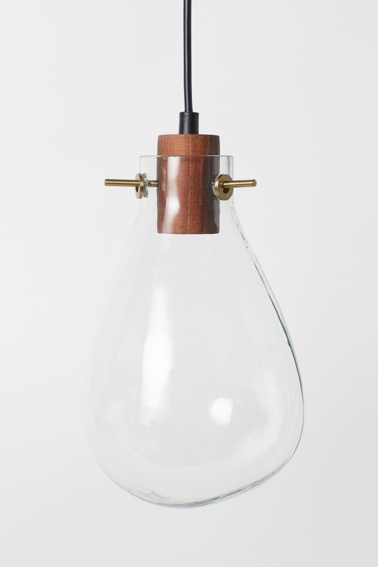 Small glass pendant light - Clear glass -  | H&M GB