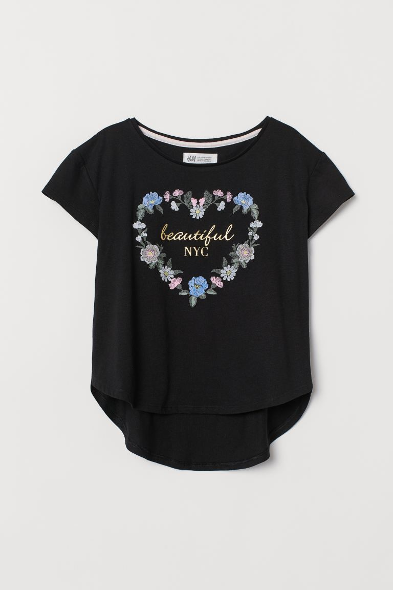 Printtitrikoopusero - Musta/Beautiful NYC - Kids | H&M FI