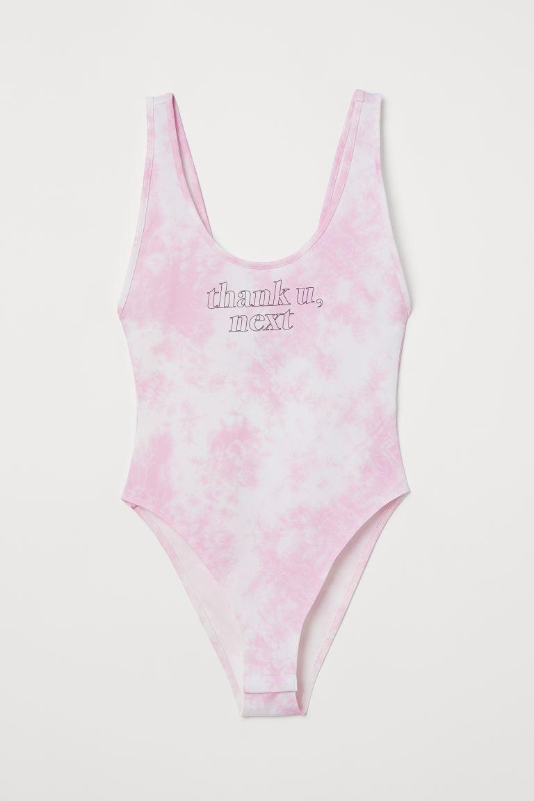 Printed jersey body - Light pink/Ariana Grande - Ladies   H&M GB