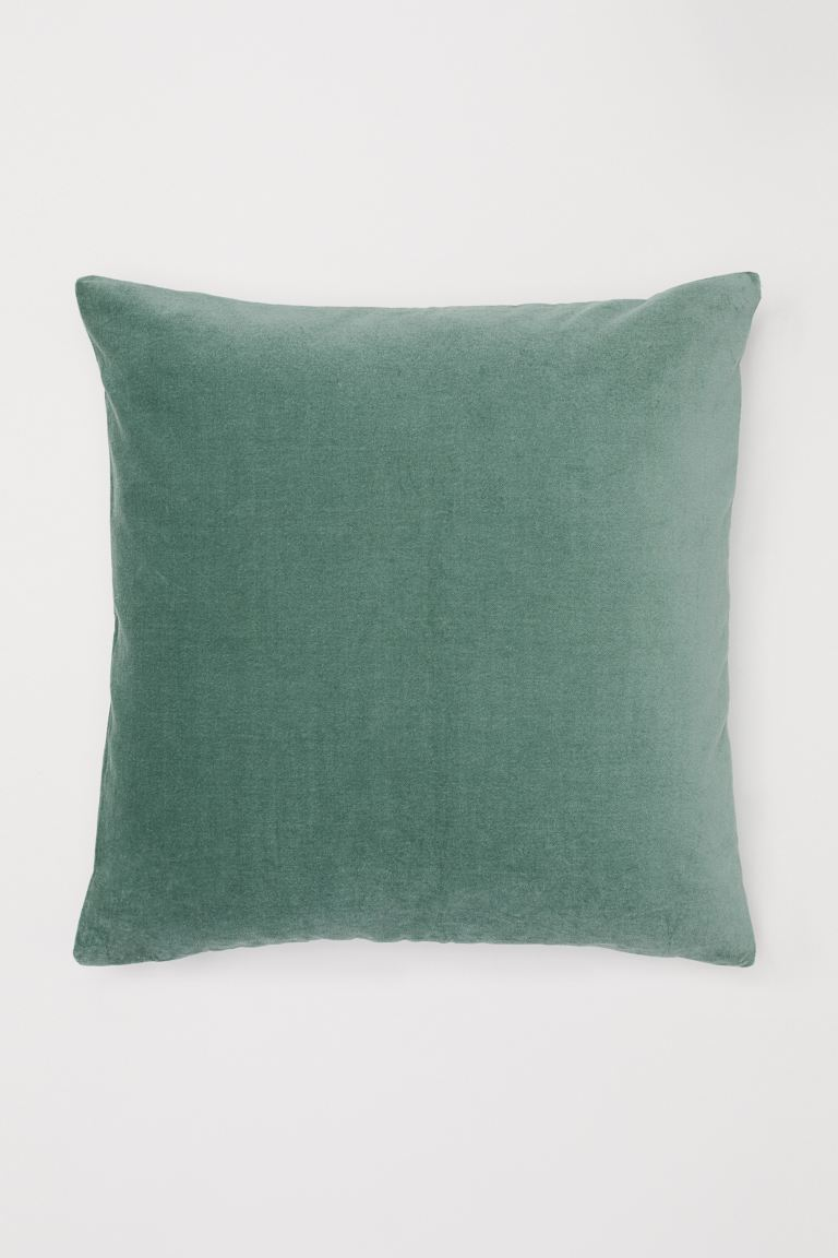 Velvet Cushion Cover Moss Green