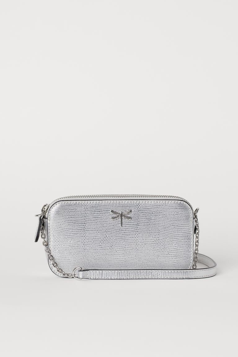 Small shoulder bag - Silver-coloured - Ladies | H&M IN