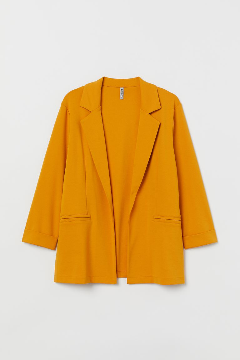 H&M+ Jersey jacket - Mustard yellow - Ladies | H&M GB