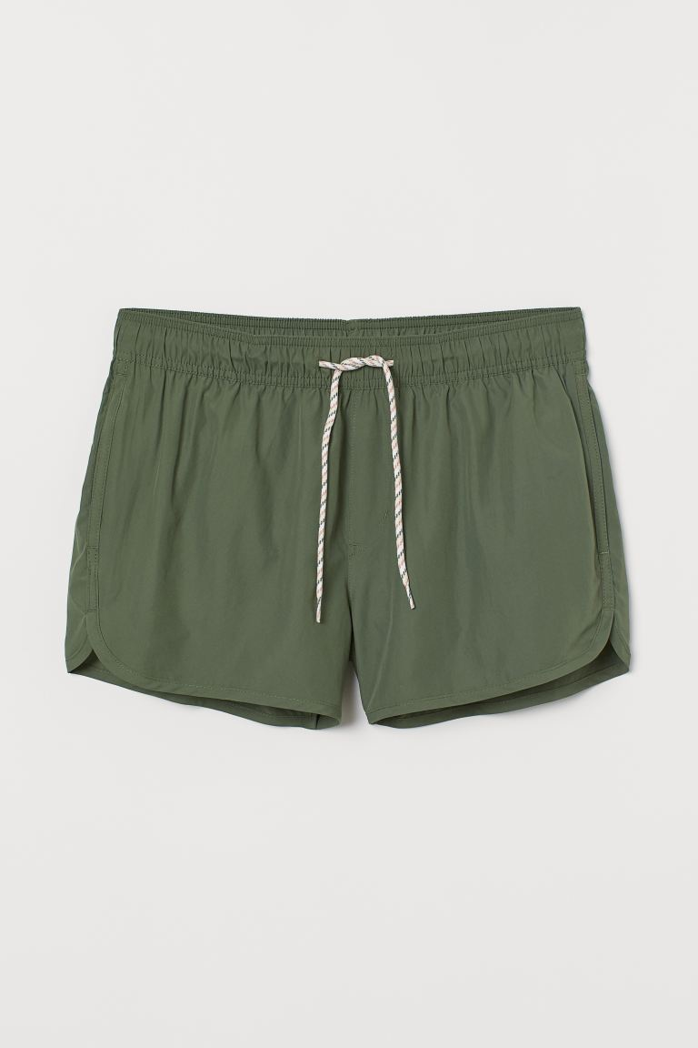 Short swim shorts - Khaki green - Men | H&M