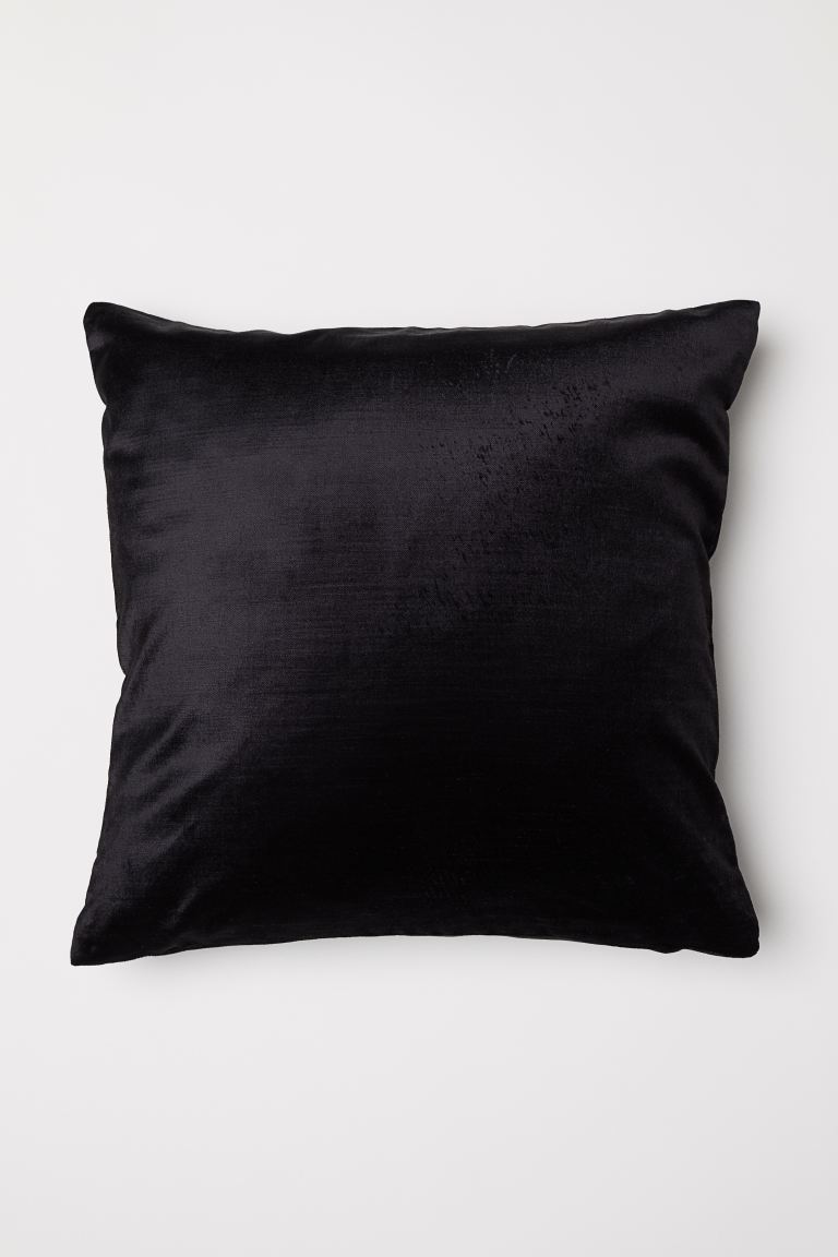 Velvet cushion cover - Black - Home All | H&M GB
