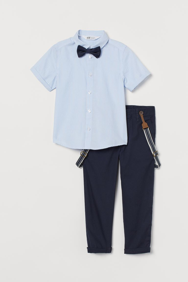 2-piece set and accessories - Dark blue/Striped - Kids | H&M GB