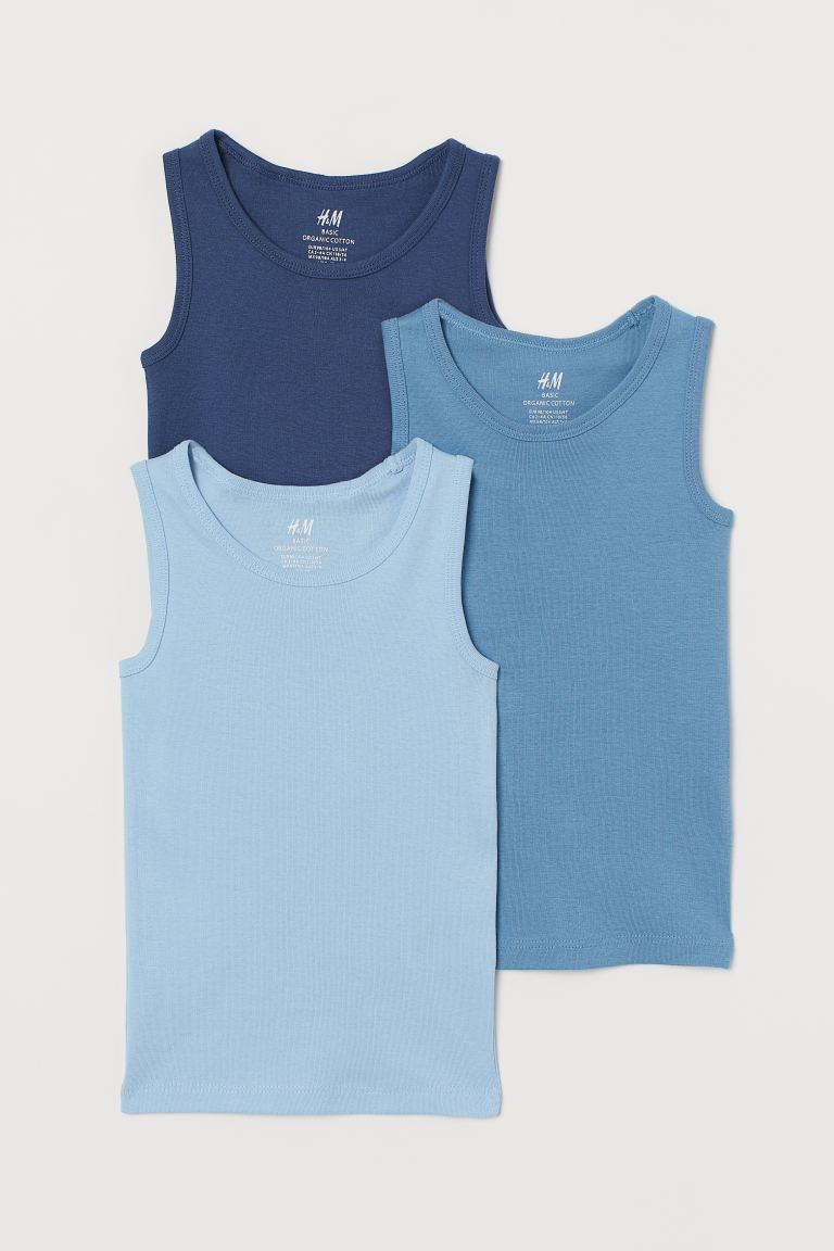 3er-Pack Tanktops - Dunkelblau - Kids | H&M AT