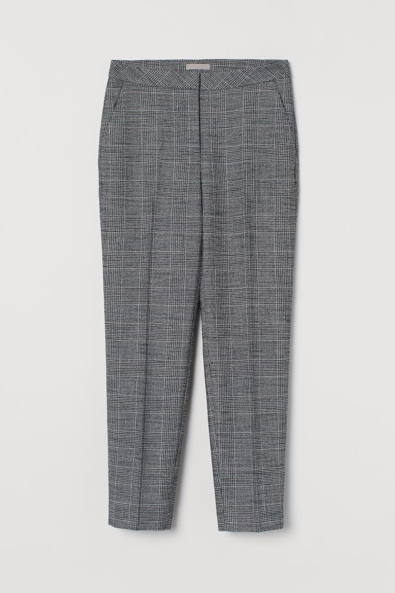 Slacks - Dark gray/plaid - Ladies | H&M US