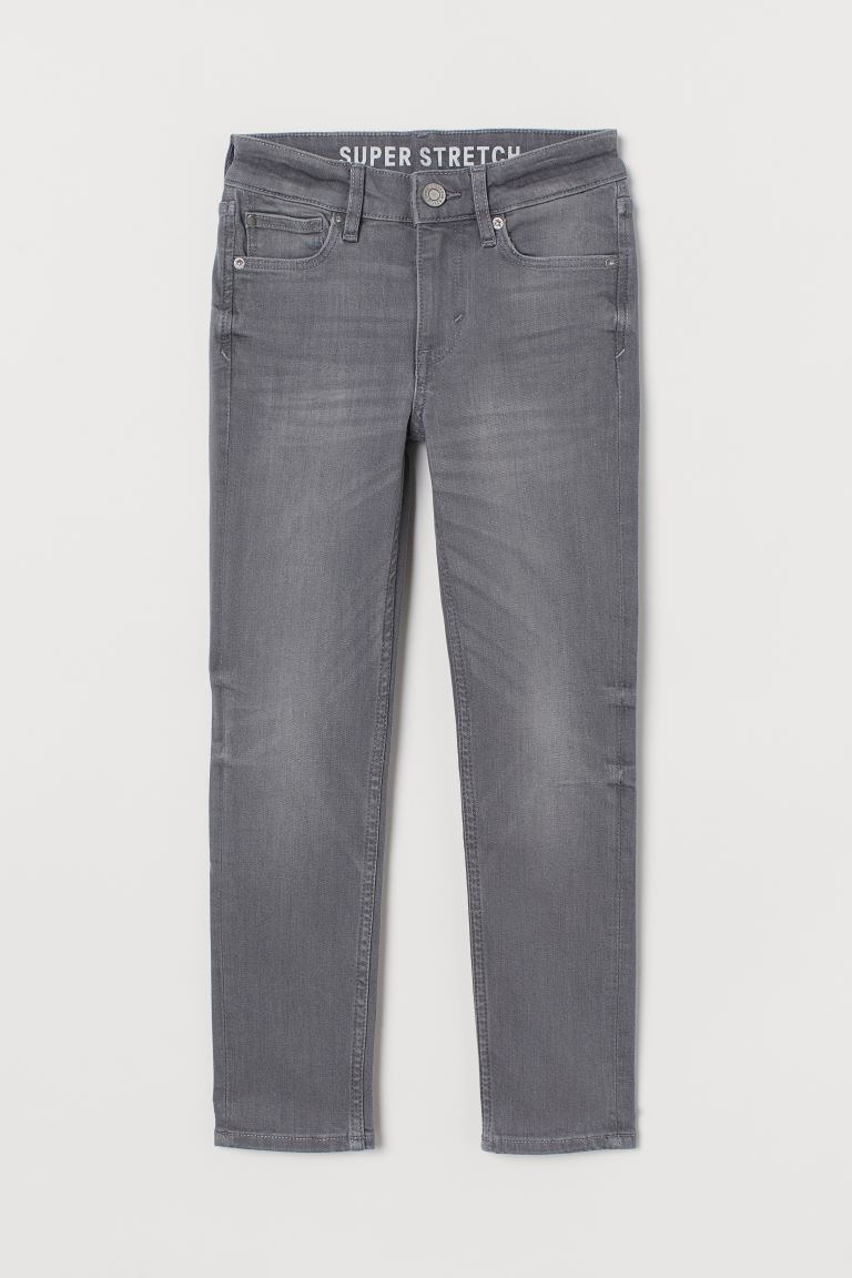 Superstretch Skinny Fit Jeans - Lys denimgrå - BARN | H&M NO