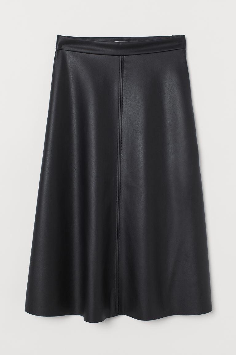 Imitation leather skirt - Black -  | H&M GB