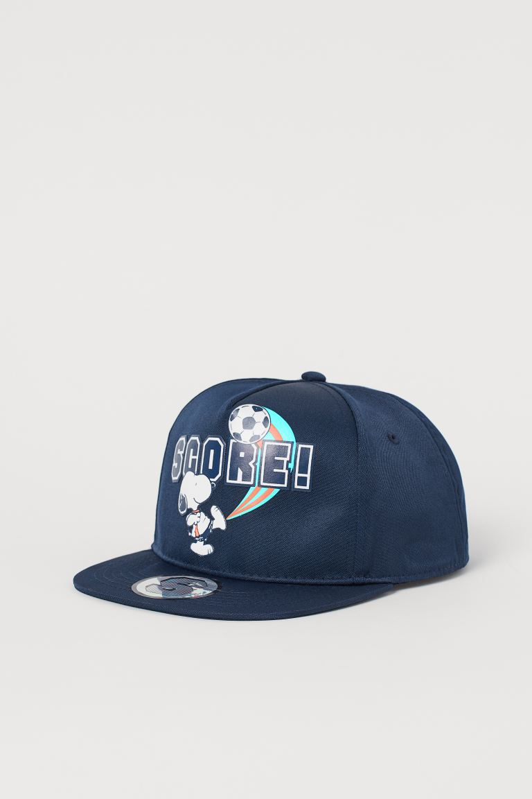 Graphic-detail Cap - Dark blue/Snoopy -  | H&M US