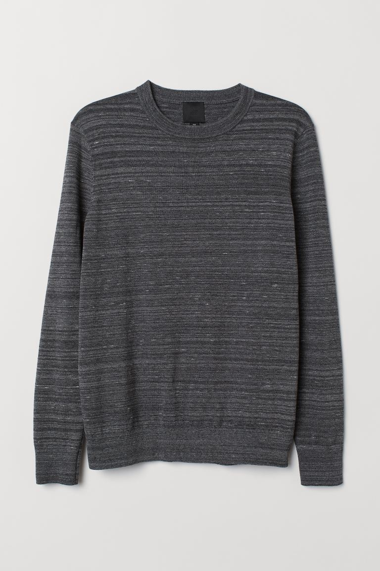 Fine-knit Sweater - Dark gray melange - Men | H&M US