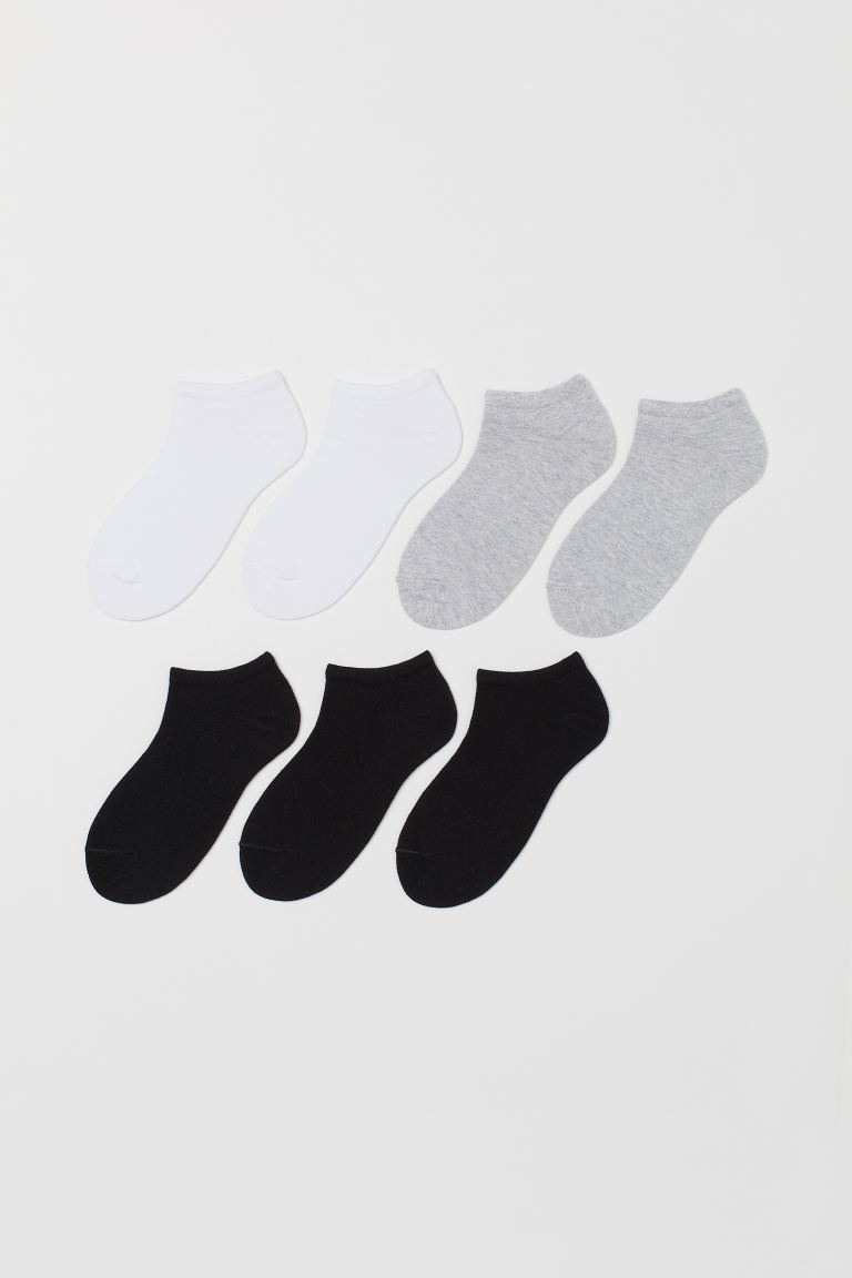 7-pack trainer socks - White/Grey/Black -  | H&M IE