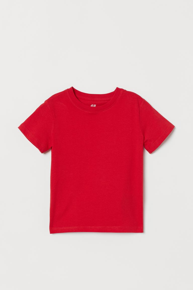 Cotton T-shirt - Bright red - Kids | H&M US
