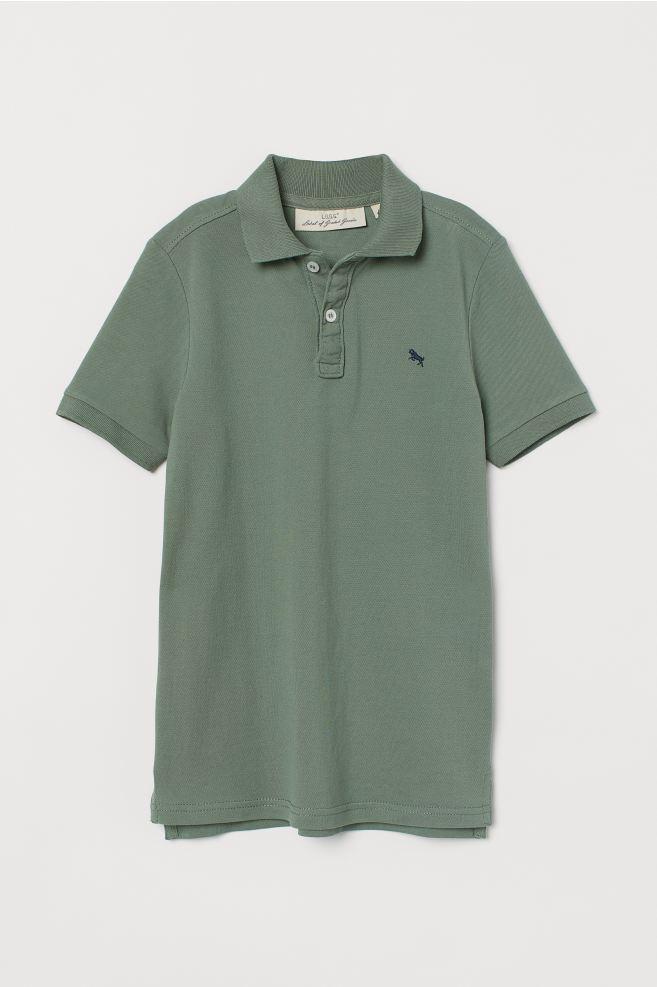 Polo Shirt - Khaki green - Kids | H&M US 2