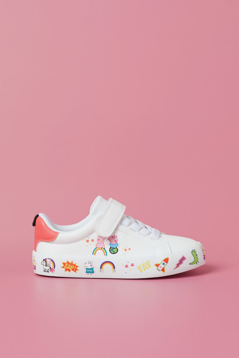 Printed trainers - White/Peppa Pig - Kids | H&M