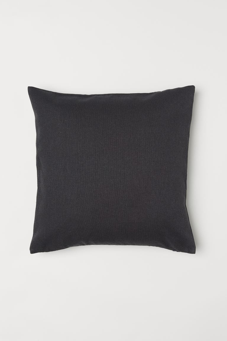 Housse de coussin en coton - Gris anthracite - Home All | H&M FR