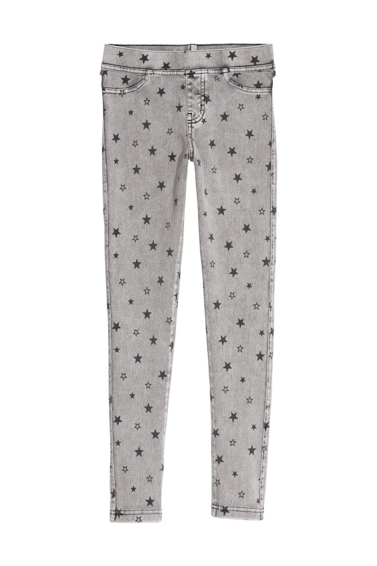 Jersey leggings - Grey/Stars - Kids | H&M GB