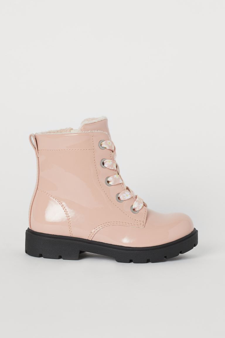 Patent boots - Powder pink - Kids | H&M GB